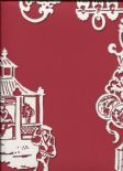 Pagoda SketchTwenty3 Wallpaper Chinois Radicchio Red MH00434 By Tim Wilman For Blendworth